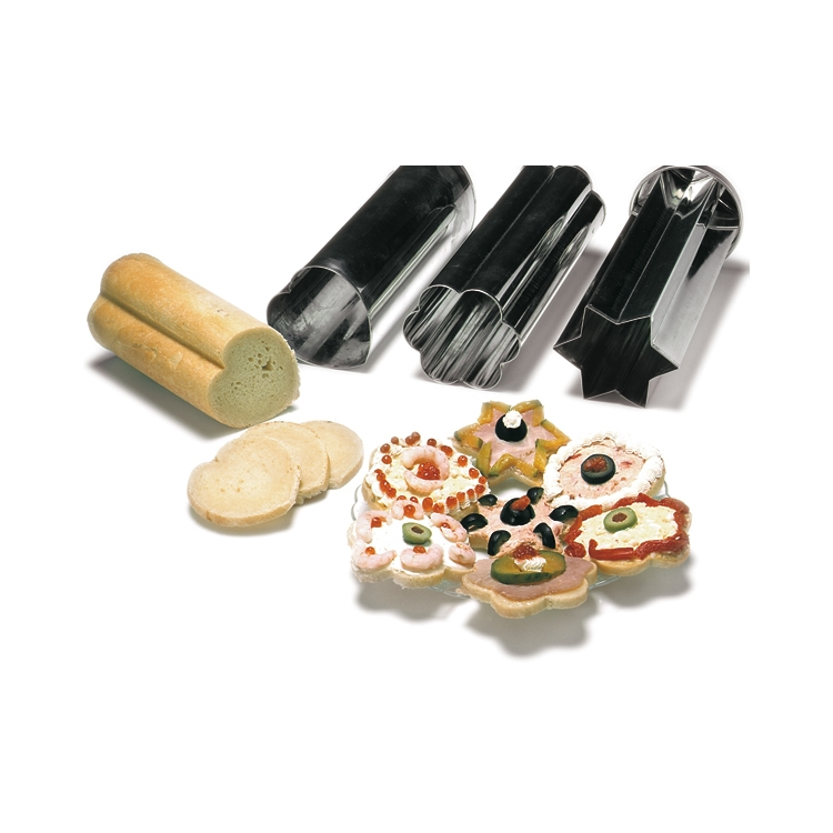 canape bread molds