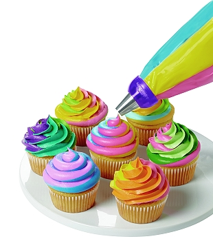 Color Swirl Three Color Icing Coupler
