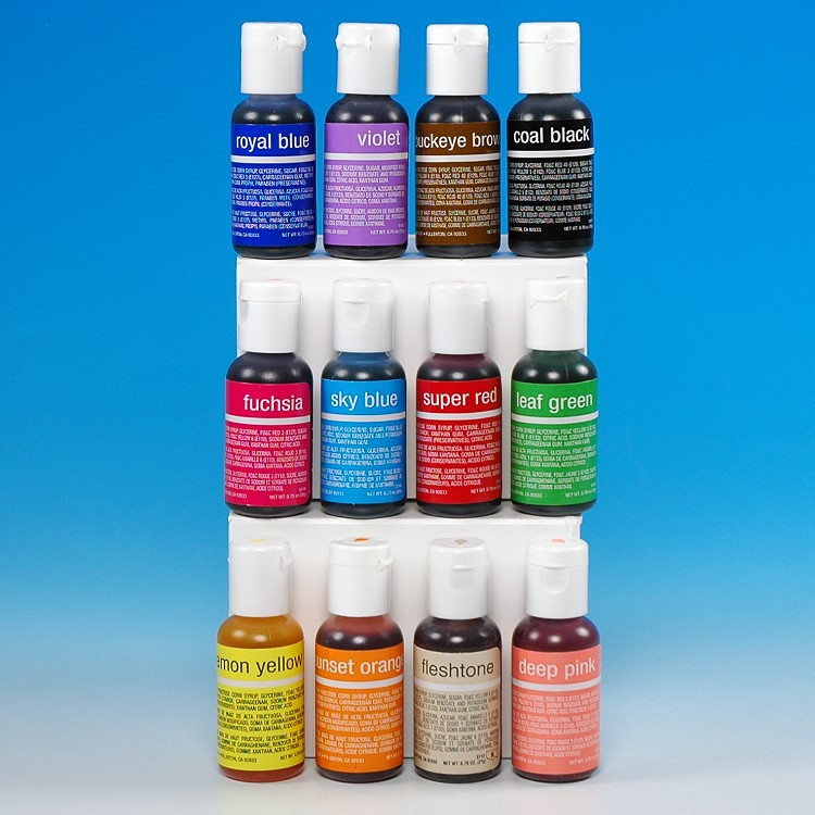 CHEFMASTER LIQUA-GEL COLOR SET - VARIETY PACK