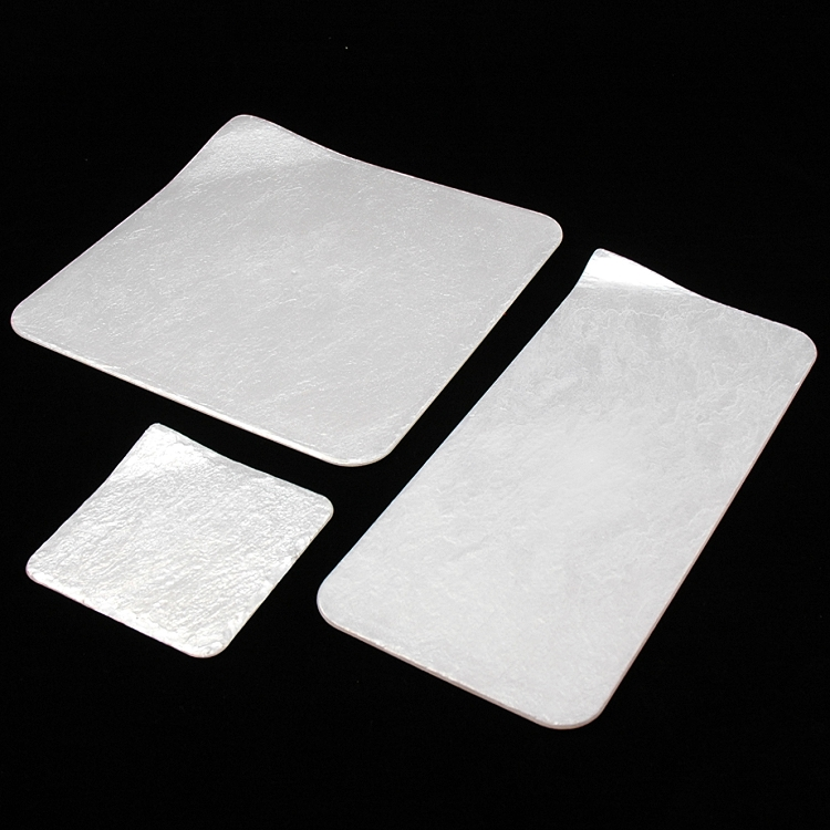 Quick View & FAUX STONE PLASTIC SERVING PLATES - PEARL