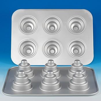 three tiered cupcake pan