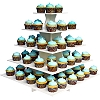 5-TIER CUPCAKE AND TREAT TOWER - SQUARE