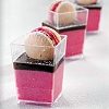 ELEGANT DESSERT CUPS DISPOSABLE - SQUARE
