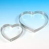PERFORATED TART RINGS - HEART SHAPED