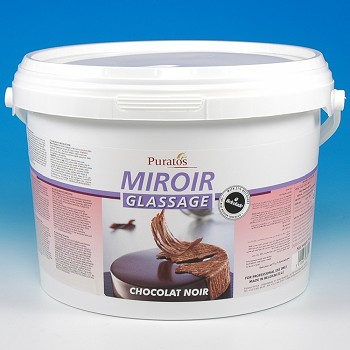 chocolate mirror glaze miroir glassage
