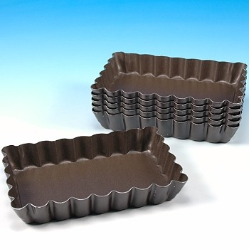 Fluted Rectangular Tart Pan Single Serving