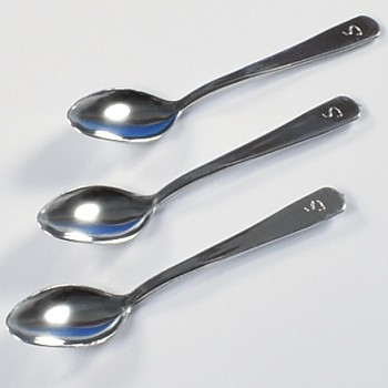 MINI SILVER SPOONS - DISPOSABLE