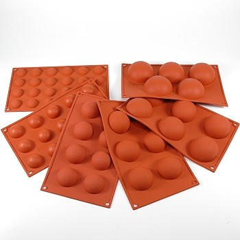SILICONE MOLD - HALF SPHERES