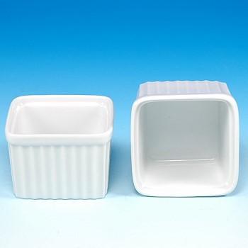 Porcelain Square Ramekin