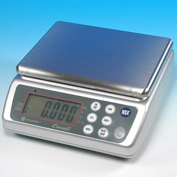"WASHDOWN & RECHARGEABLE ""NSF"" DIGITAL SCALE 33 LBS."