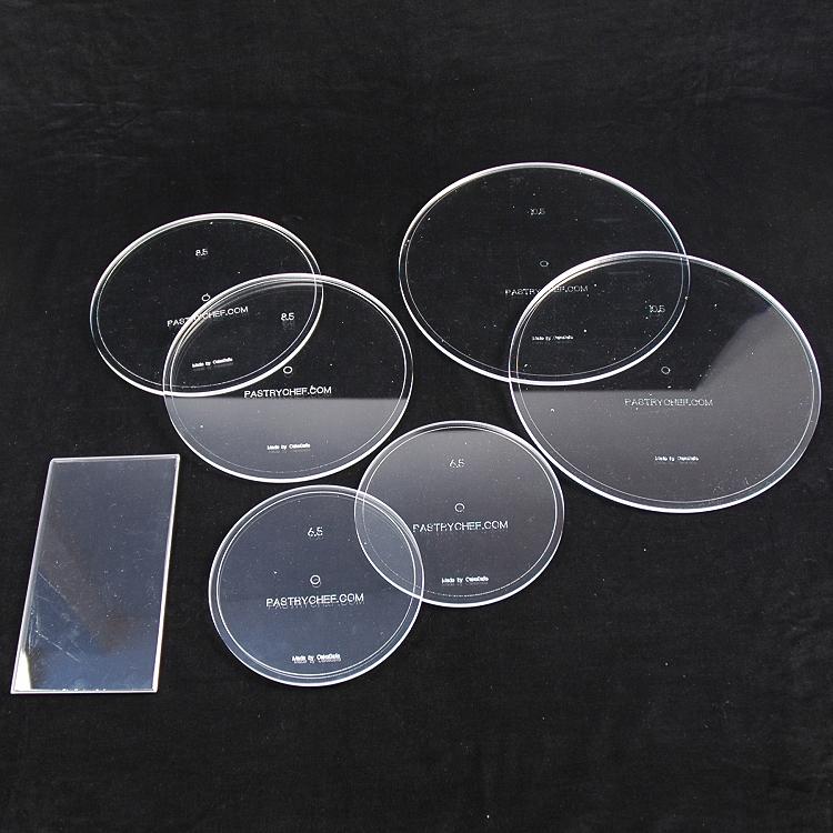 Acrylic Cake Frosting Smoothing Disks Round Set