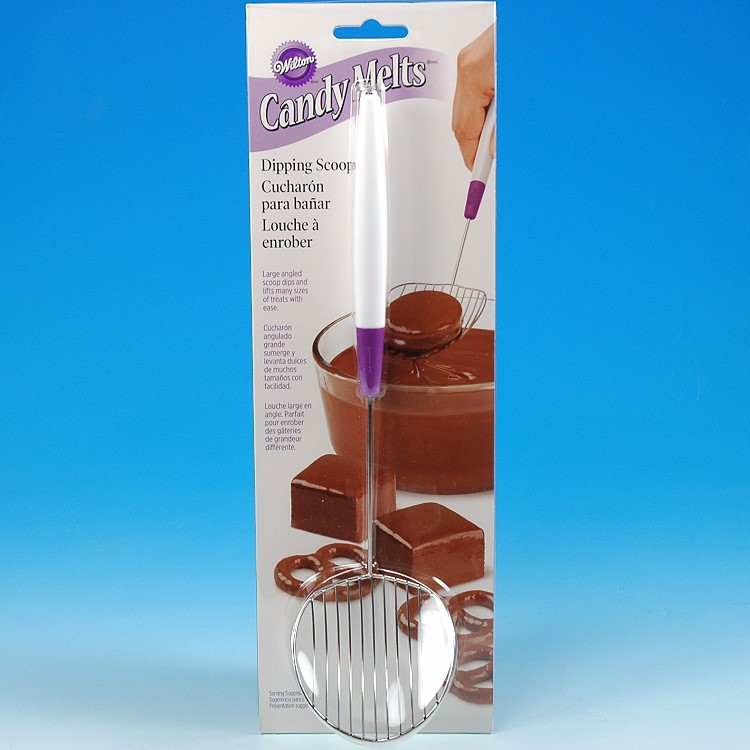 Wilton CandyMeltsTreats Stainless Steel Chocolate DippingScoop Tool 1904-1018
