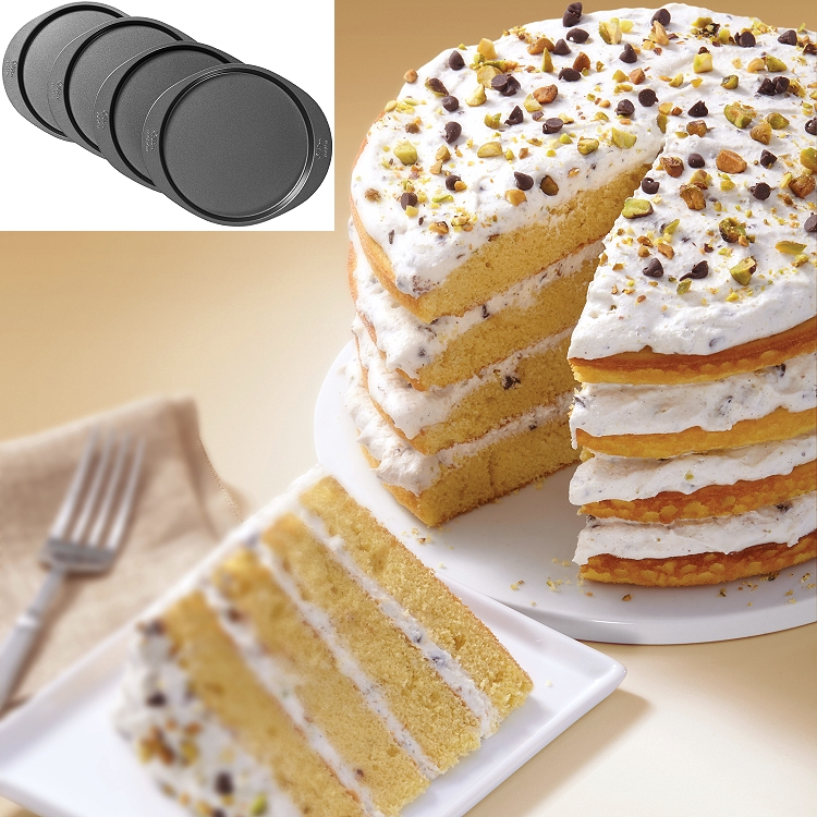 Wilton Easy Layers 8 Quot Cake Pan Set 4 Piece