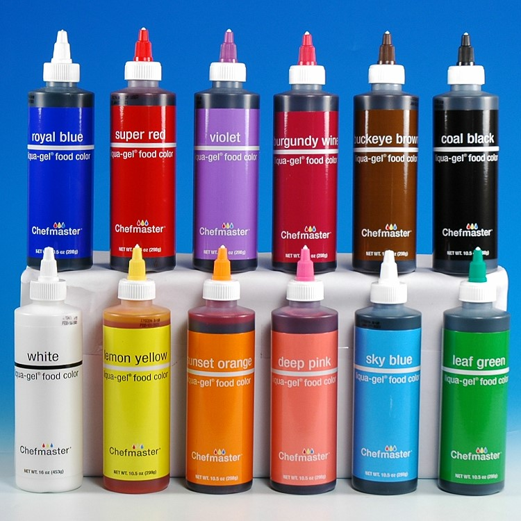 CHEFMASTER LIQUA-GEL COLOR SET PRO - 12 COLORS