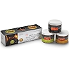 PREMIUM NATURAL WOOD SMOKING CHIPS - 3 JAR SET