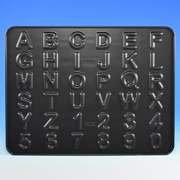 ALPHABET & NUMBER COOKIE CRACKER BAKING PAN