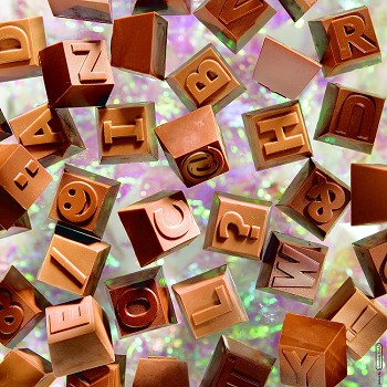 CHOCOLATE MOLD - ALPHABET BLOCKS