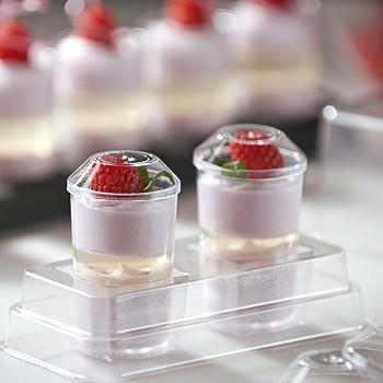 ELEGANT DESSERT CUPS DISPOSABLE - ROUND 65ML