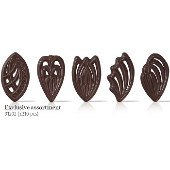 CHOCOLATE EXCLUSIVE ASSORTMENT FILIGREE FANS