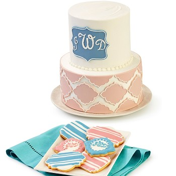 FONDANT PLAQUE CUTTER SET 6 PIECE