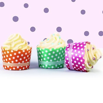 "FREESTANDING ""MINI"" BAKING CUPS - POLKA DOT COLLECTION"