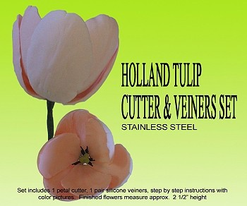 HOLLAND TULIP CUTTER & VEINER SET