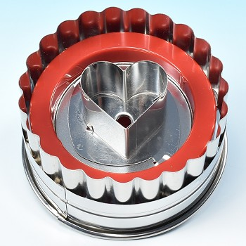 LINZER COOKIE CUTTER SET - LARGE ROUND