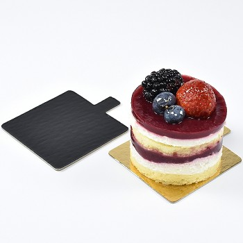 MINI CAKE CARDBOARD SQUARE - DOUBLE-SIDED