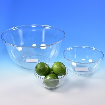 MIXING BOWL SET - CLEAR PLASTIC