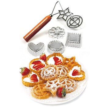ROSETTE COOKIE AND TIMBALE IRON SET