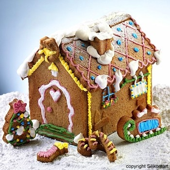 SILICONE MOLD - GINGERBREAD HOUSE