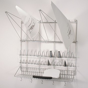 BAKERY WALL RACK - STAINLESS STEEL